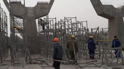 Возобновили строительство развязки на «Алтын Орде»