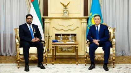 Казахстанский орден вручили послу Объединенных Арабских Эмиратов