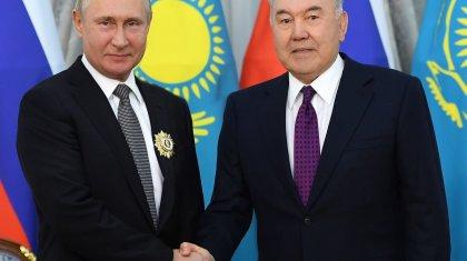 Владимир Путин записал специальное видеопоздравление для Нурсултана Назарбаева