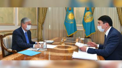 МагзумМирзагалиеврассказал Президенту о цифровизации водного канала в Туркестанской области