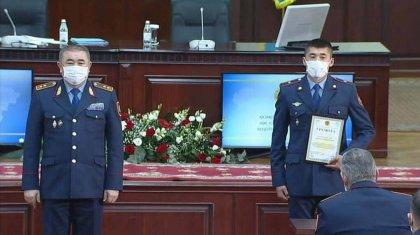 Ерлан Тургмубаев наградил полицейских