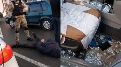 Видео задержания автоворов в Нур-Султане показали полицейские