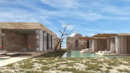 Бутик-отель с виллами, ресторан, вертолетная площадка: представлен эскиз комплекса у урочища Босжыра
