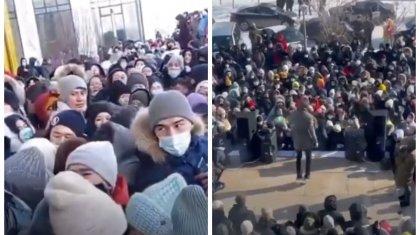 Давка из-за двух автомобилей в Нур-Султане: организаторов розыгрыша оштрафовали