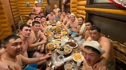 Отдых полицейских в сауне возмутил казахстанцев