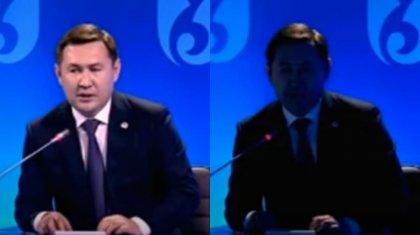 Свет отключился во время отчетной встречи акима Шымкента