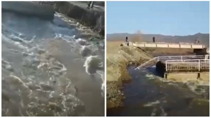«Сообщения нет»: единственный мост размыло в селе Алматинской области