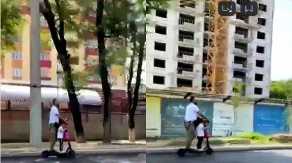 «Безответственный отец»: самокатчик с ребенком вызвал спор в Сети