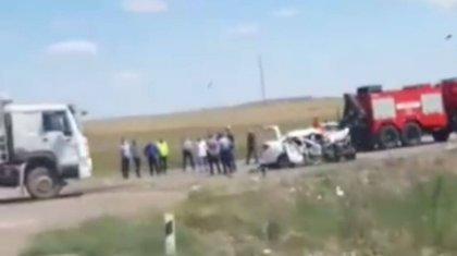 Мужчина с 10-летним сыном погибли близ Темиртау