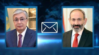 Касым-Жомарт Токаев поздравил Никола Пашиняна с назначением на пост премьер-министра Армении