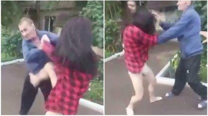 «Трусы с сюрпризом»: драку трансгендера с соседом сняли на видео в Кокшетау