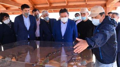 Премьер-министру РК Аскару Мамину представили концепцию развития национальных парков «Алтын-Эмель» и «Чарын»