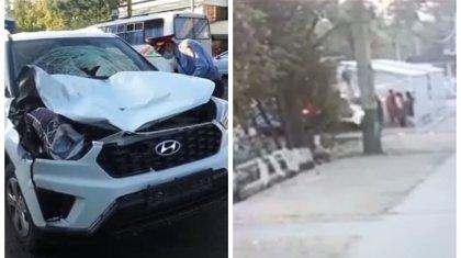 Сбивший насмерть людей на остановке в Таразе уснул за рулем