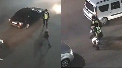 Девушкаразбила стекла авто и остановки в Нур-Султане: ее задержали