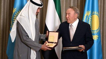 Нурсултан Назарбаев наградил премией Наследного принца Абу-Даби