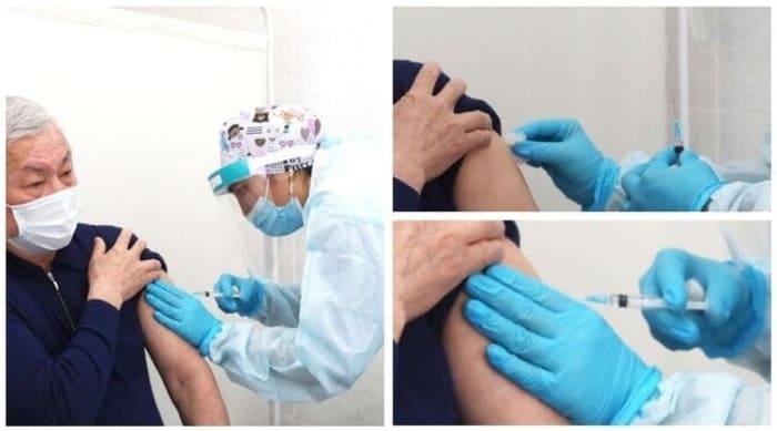 Как Сапарбаеву стали вакцину с колпачком